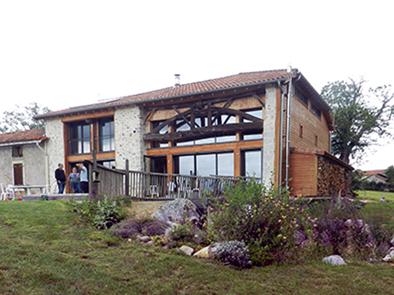 Maison Agence Collart Clarac Saint Gaudens terre galet écologique