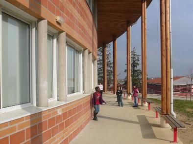 école, élémentaire, verfeil, architecture, terre, bioclimatique, collart