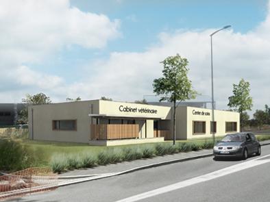 Cabinet vétérinaire Centre de soins architecture bioclimatique architecte haute-garonne 31 verfeil ossature bois